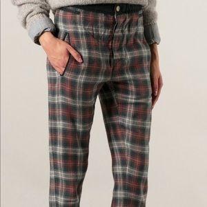 "Isabel Marant plaid ""velt"" trousers"